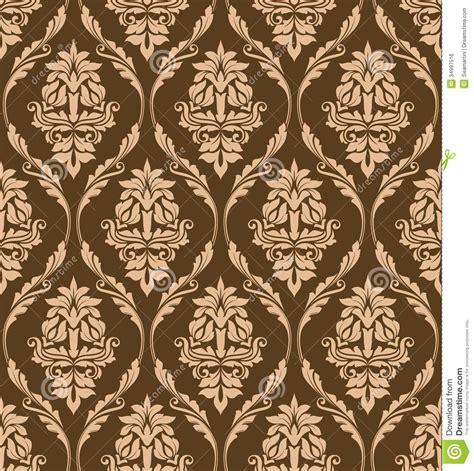 brown flower pattern brown floral seamless pattern royalty free stock image
