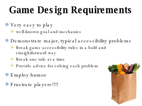 game design requirements gfh game over