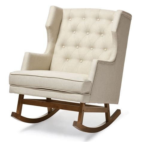 Tufted Rocking Chair tufted wingback rocking chair modern furniture