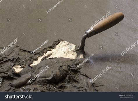 Concrete Floor Tools by Trowel Concrete Floor Construction Tools Stock Photo