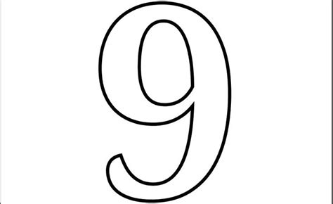 9 Coloring Page by Images Of Number 9 Printable Number 9 Coloring Page