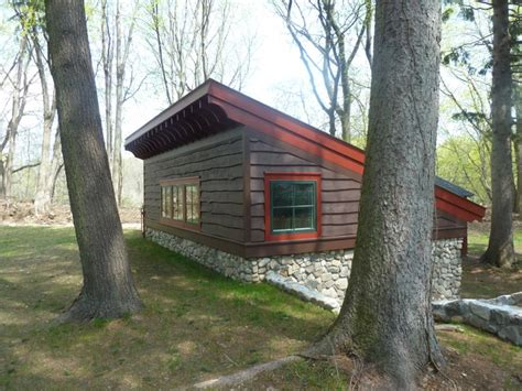 playhouse in the woods rustic shed new york by