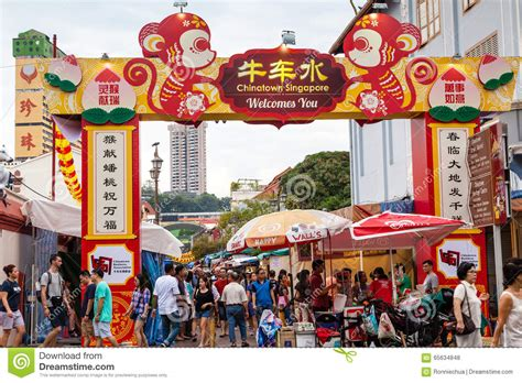 new year shopping image new year shopping in singapore chinatown editorial