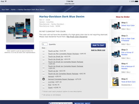 color rite paint colorrite aerosol harley davidson forums