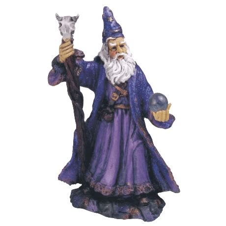 purple wizard statue   medieval collectibles