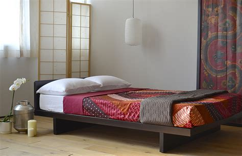 Japanese Style Bed Frames Furniture And Brown Wooden Platform Bed With Board And Sidetable Also Japanese Wall