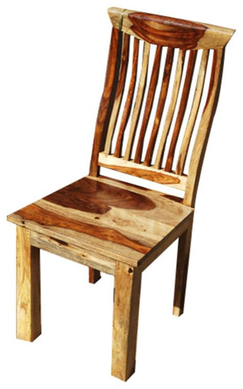 solid wood dallas mission back ergonomic dining chair