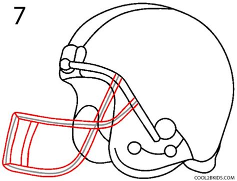How To Make A Paper Football Helmet Step By Step - how to draw a football helmet step by step pictures