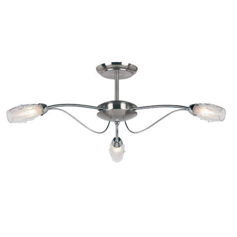 Mercury Ceiling Light Saxby Lighting Mercury 3lt Semi Flush 33w 9009 3sc Uk