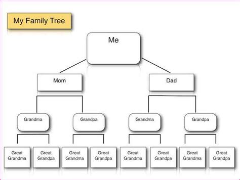 Basic Family Tree Template Simple Image Gallery Family Tree Template Microsoft