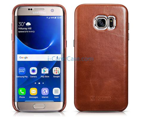Backcase Leather Samsung Galaxy S7edge icarer samsung galaxy s7 edge vintage back cover series