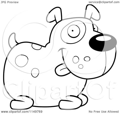 chubby puppy coloring page cartoon clipart of a black and white chubby spotted dog
