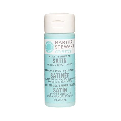 martha stewart crafts 2 oz surf multi surface satin acrylic craft paint 32016 the home depot