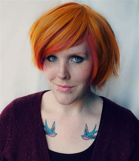 edgy short hair wigs for sale pumpkin wig orange ginger pink coral straight bob short