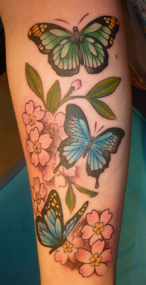 butterfly tattoo cherry blossom butterflies and cherry blossoms by blackstartattoo on