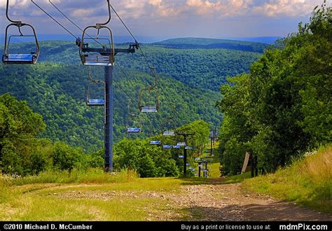 Blue Knob Mountain by Blue Knob Ski Resort Slopes Picture 033 July 18 2009