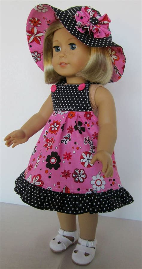 18 inch doll clothes 18 inch american doll clothes sundress and hat in