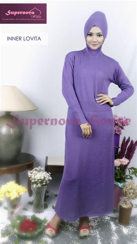 Saqina Gamis Trendy Mg015 Ungu inner lovita ungu baju muslim gamis modern