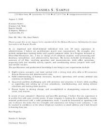 Cover Letter Exles For Human Resources by Finest Human Resource Cover Letter Sle Sle Cover