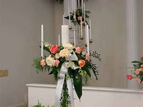 flower unity wedding ceremony wedding ceremony unity candleabra floral liberty baptist