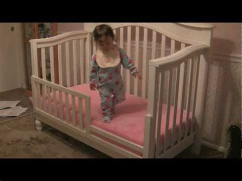 how to turn a crib into a toddler bed good bye crib hello toddler bed youtube