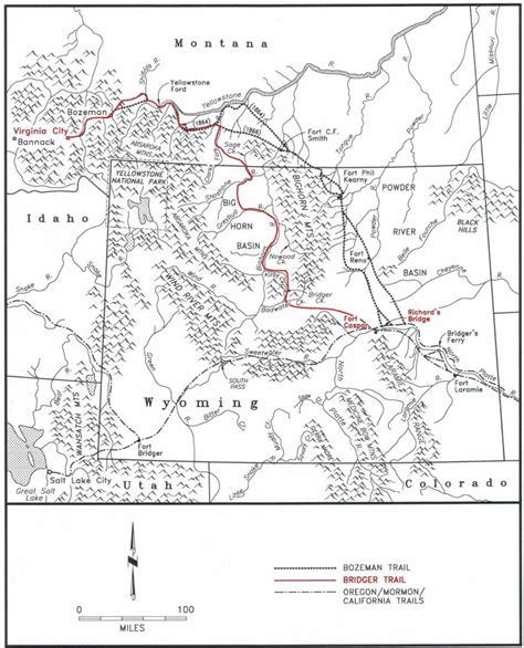 bozeman trail map the bridger trail a safer route to montana gold
