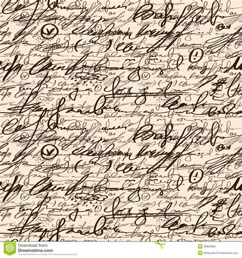 pattern of abstract writing abstract seamless hand write pattern stock photo image