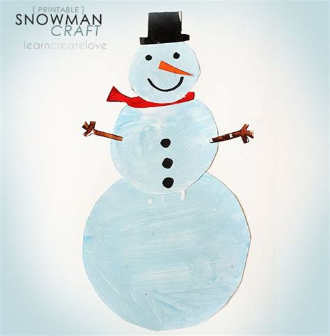 printable snowman ornaments printable snowman craft winter for kids pinterest