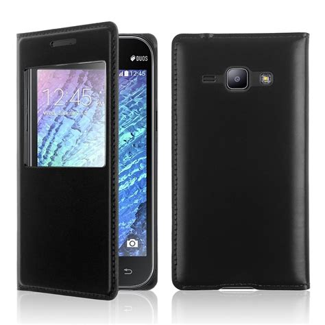 Flip Cover Samsung J1 View for samsung galaxy j1 j100f j100h leather battery