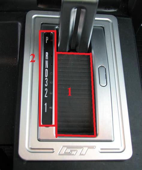 2006 mustang automatic shifter 2005 mustang automatic shift indicator dust cover broken