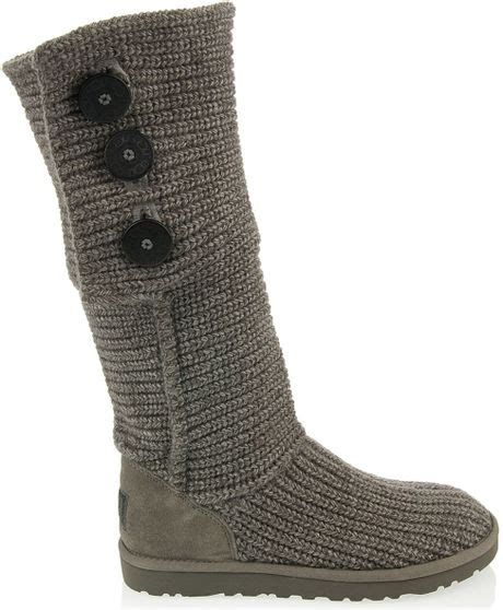grey knitted boots ugg knitted boot in gray grey lyst
