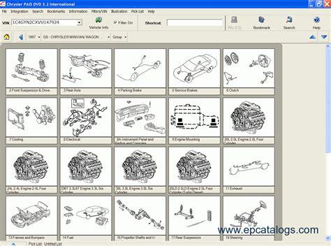 chrysler grand voyager parts catalogue chrysler epc usa