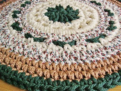 Crochet With Macrame Cord - forest green camel crochet rug from macrame cord this
