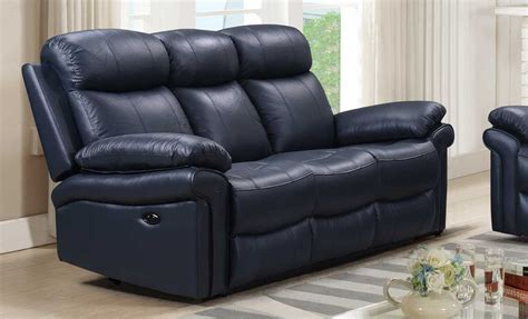 sofa leather power recliner joplin blue leather power recliner sofa living room