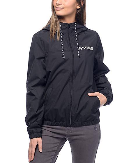 vans kastle 1k mte black lined windbreaker jacket zumiez