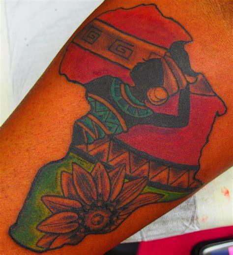 color tattoos on skin spirit custom africa design africa