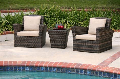 woven patio furniture aic garden all weather wicker 3 club chair