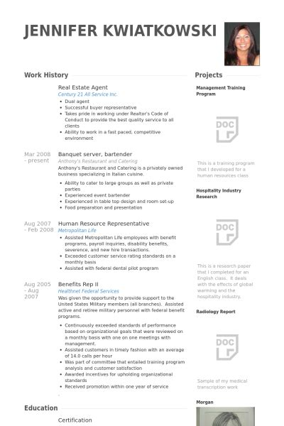 real estate agent resume sles visualcv resume sles