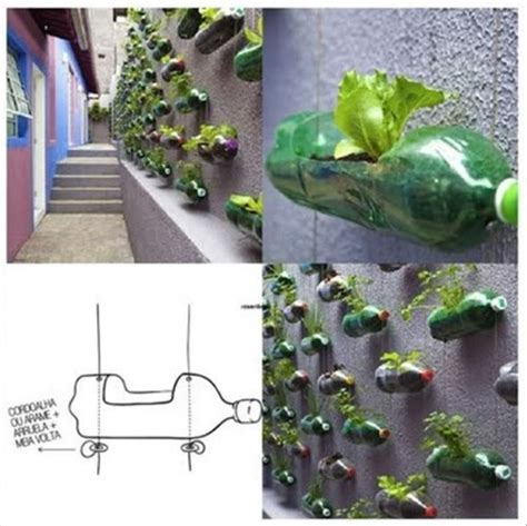 20 Fun And Creative Crafts With Plastic Soda Bottles Soda Bottle Garden Wall