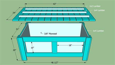plans  storage bench seat ana white outdoor storage