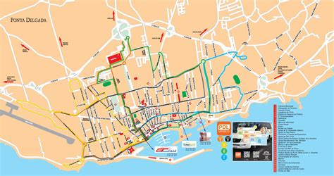mapa ponta delgada ruas thujamassages