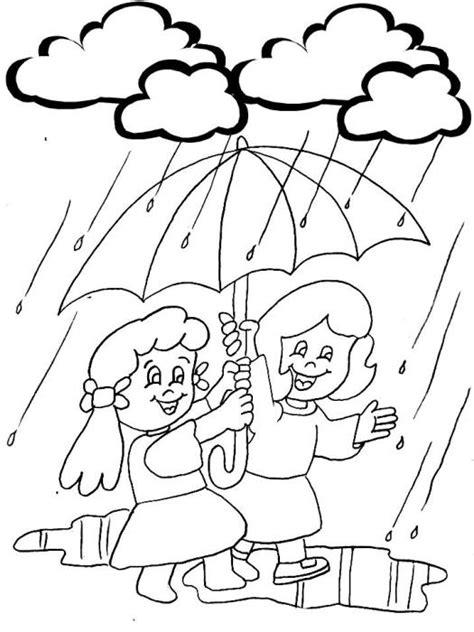 imagenes de invierno y verano para colorear qu 233 divertida la lluvia dibujalia dibujos para