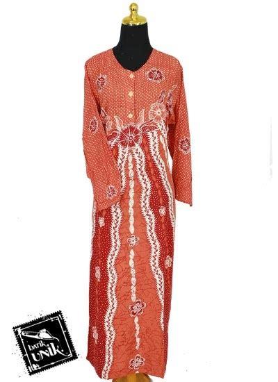 Baby Doll Dress Bunga baju batik longdress santhung motif bunga putri malu