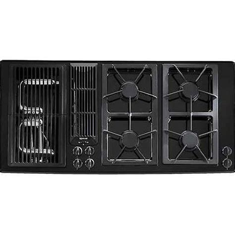 45 inch cooktop jenn air 174 45 inch gas downdraft cooktop color black at
