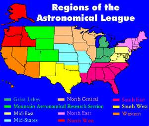 regions of the astronomical league the astronomical league