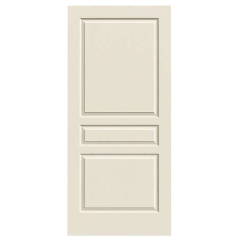 Hollow Interior Door Jeld Wen 36 In X 80 In Molded Textured 3 Panel Square Primed White Hollow Composite
