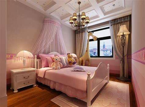 how to make a 3d bedroom model pink girls bedroom 3d model max cgtrader com