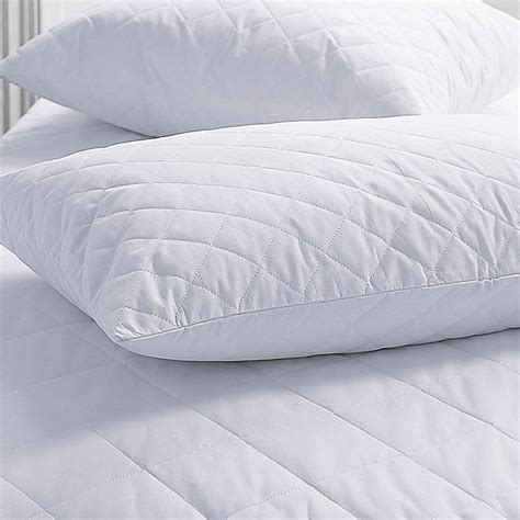 bed pillow protectors quilted pair pillow protector linenstar