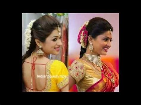 youtube indian hairstyles for saree hairstyles for traditional sarees youtube