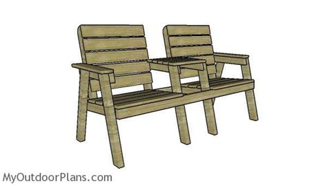 modern double chair bench  diy plans
